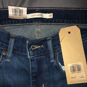 LEVI'S curvy bootcut women's jeans NWT